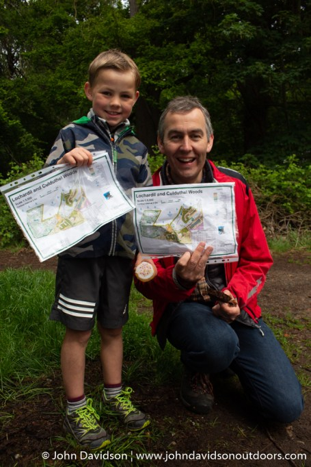 Roddy Rutherford with dad Will at the mini orienteering day.