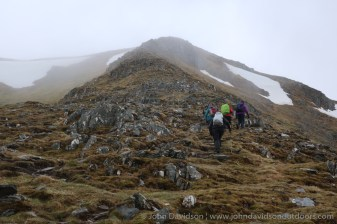 Starting up the east ridge to Tom a' Choinich.