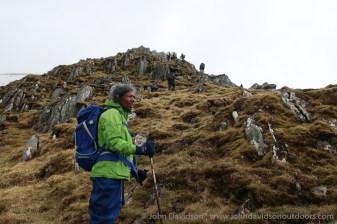 Making their way up Tom a' Choinich's east ridge.