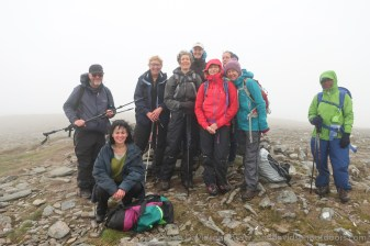 The group at the summit of Tom a' Choinich.