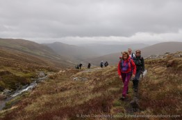 On the old path to the Bealach Toll Easa.