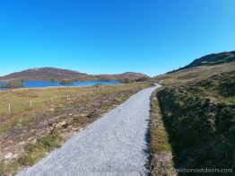 The South Loch Ness Trail path above Loch Tarff.