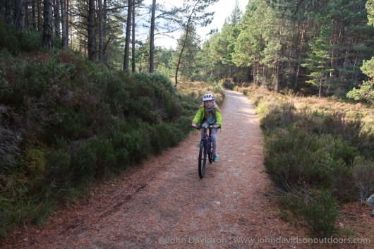 On the trail towards the Cairngorm Club Bridge.