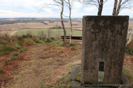 The 127m trig point in Quarrelwood beside the viewpoint.
