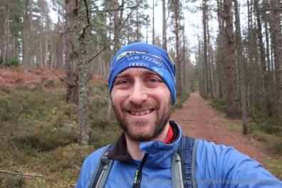 John on a stroll through the woods.