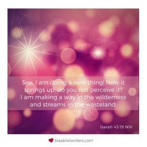 Favourite verse - Isaiah 43 19