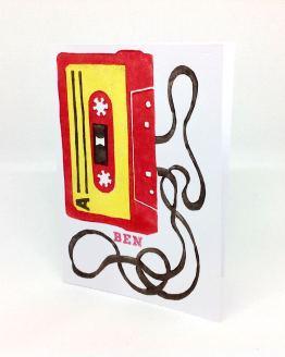 Carte postale k7 audio