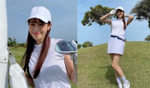 鷲見玲奈がインスタでミニスカゴルフウェア姿