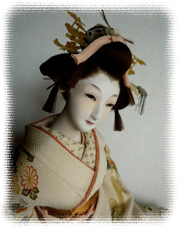 Japanese Antique Silk Faced Doll Of A Bride In Wedding Kimono Japanese Kimono Dolls Catalogue