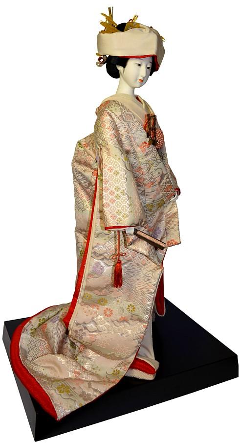 Japanese Bride Doll Dressed In Wedding Kimono 1950s