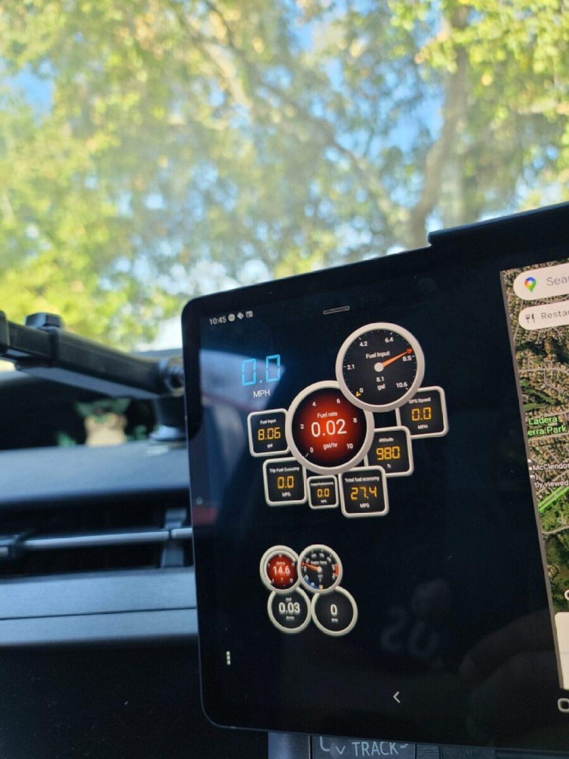 OBDLink app on a Toyota Prius