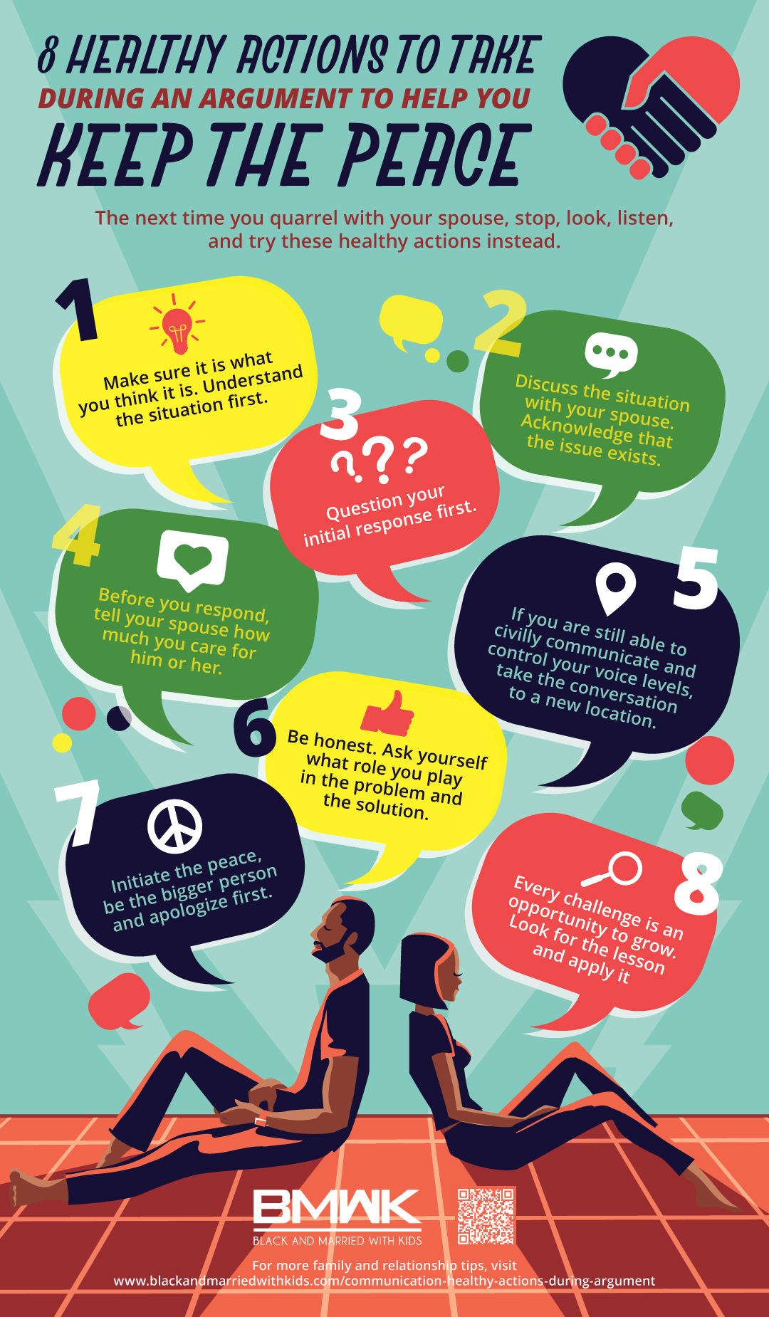 infographic | 9 Healthy Actions During an Argument That Help You Keep the Peace