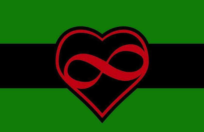 black polyamory flag