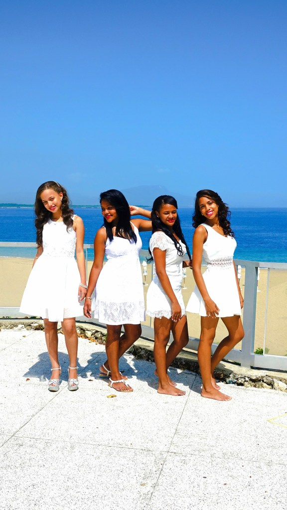 women in white dresses