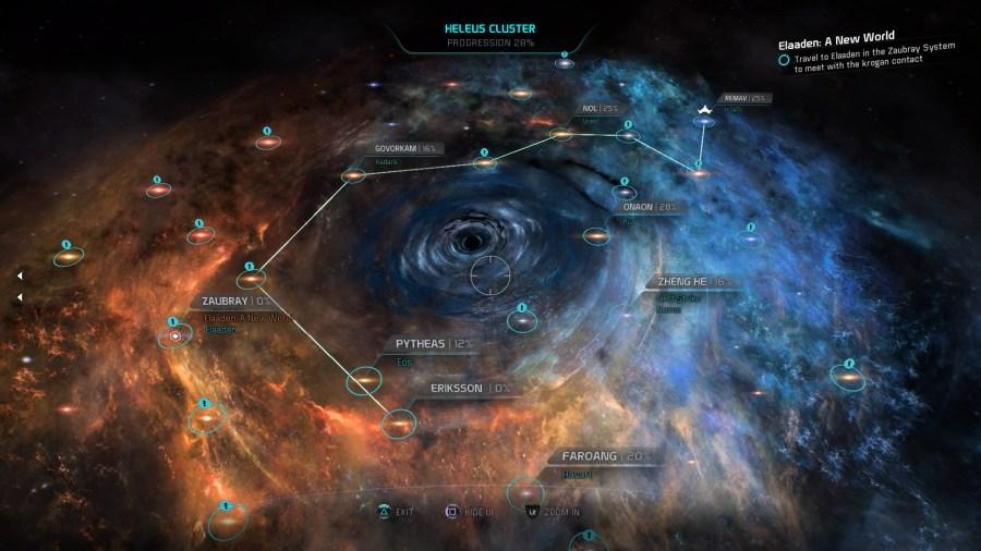 Mass Effect Andromeda Heleus Cluster