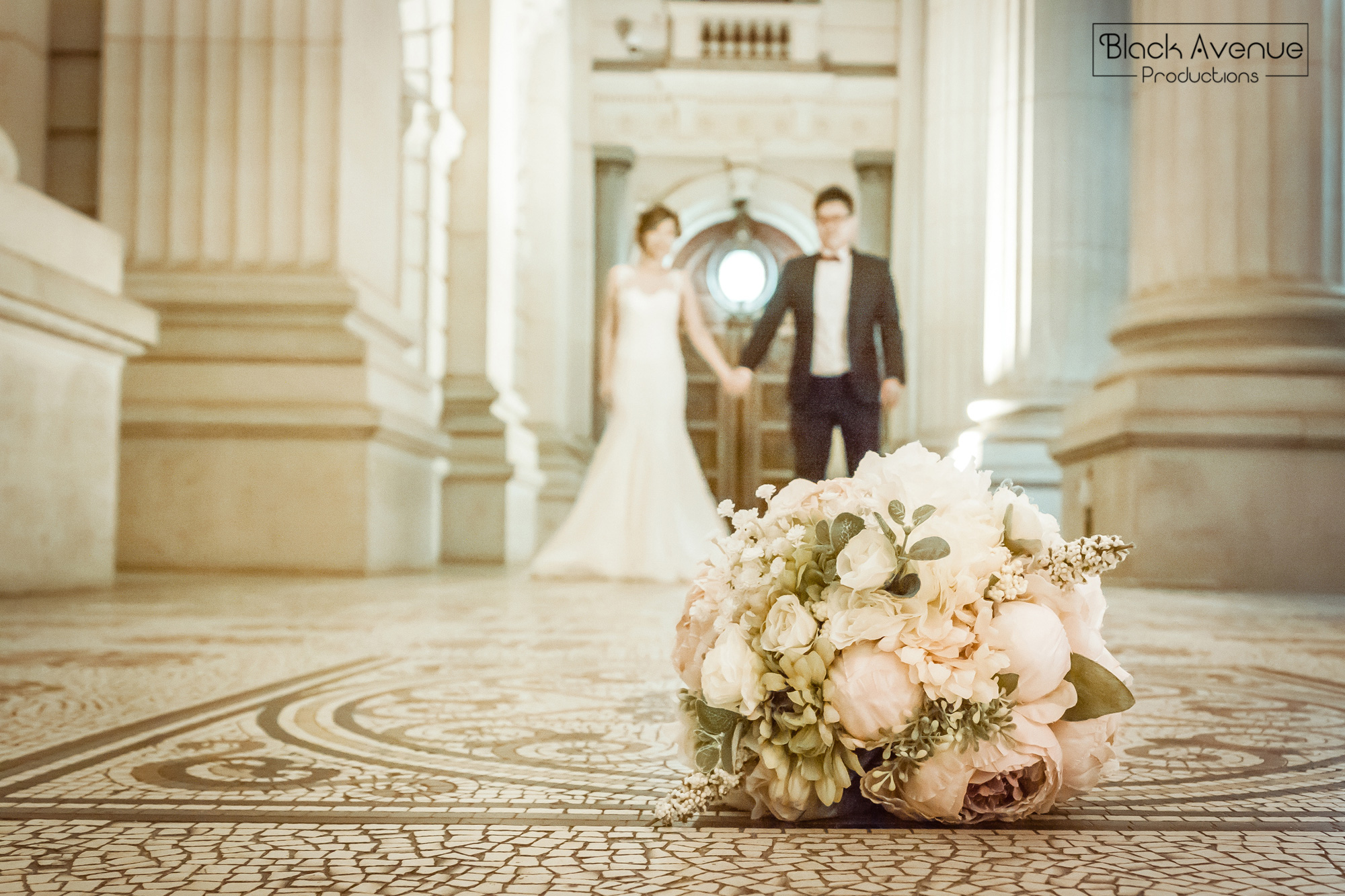 pre wedding photography bridal session portrait at parliament house in Melbourne with Asian couple