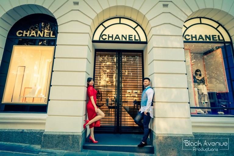 墨爾本婚拍 名店街 Collins Street 香奈兒 Chanel