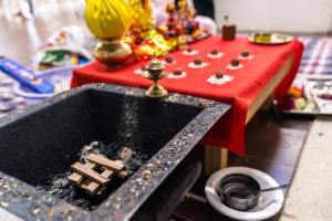 Melbourne hindu wedding ceremony setting