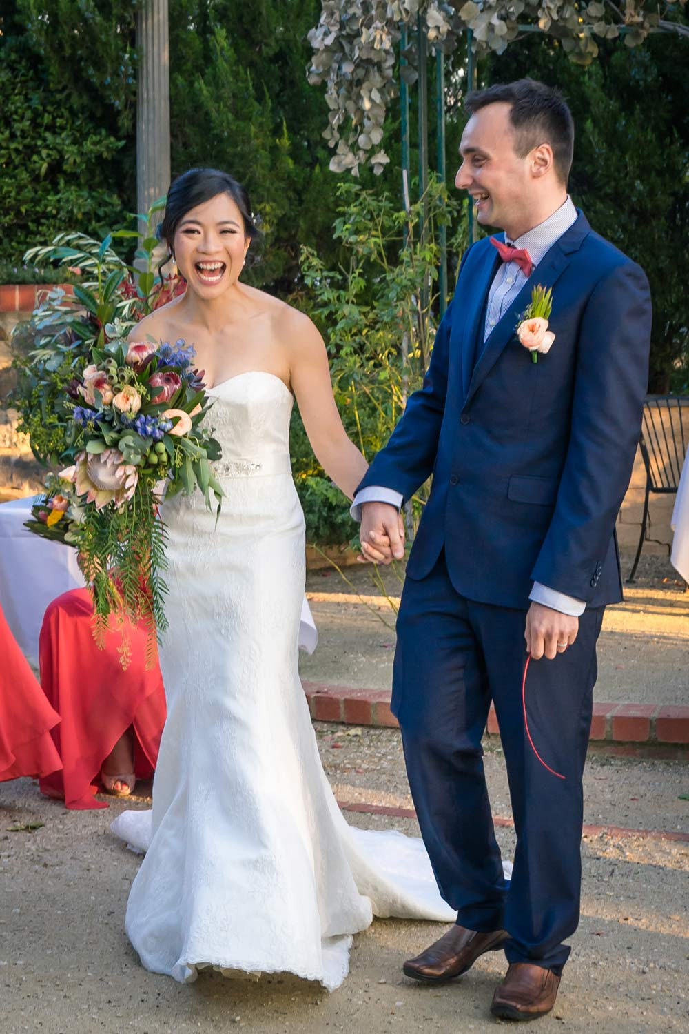 natural real wedding moment during ceremony at Yarra Valley venue captured by Melbourne photographers Derek Chan