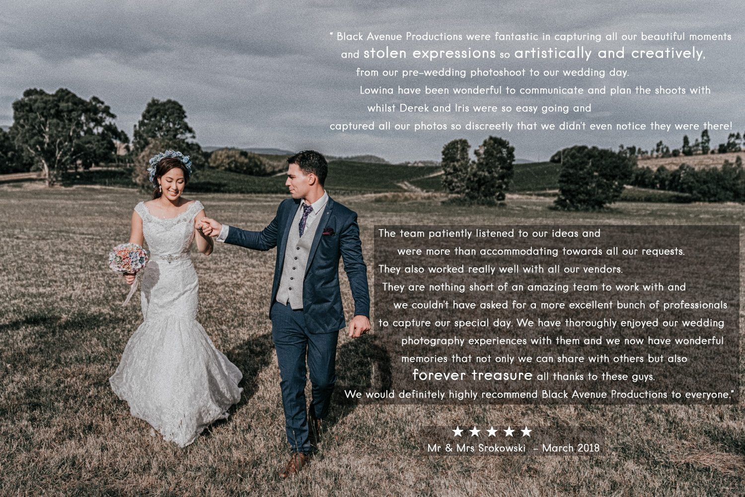 Immerse Yarra Valley wedding photography reviews