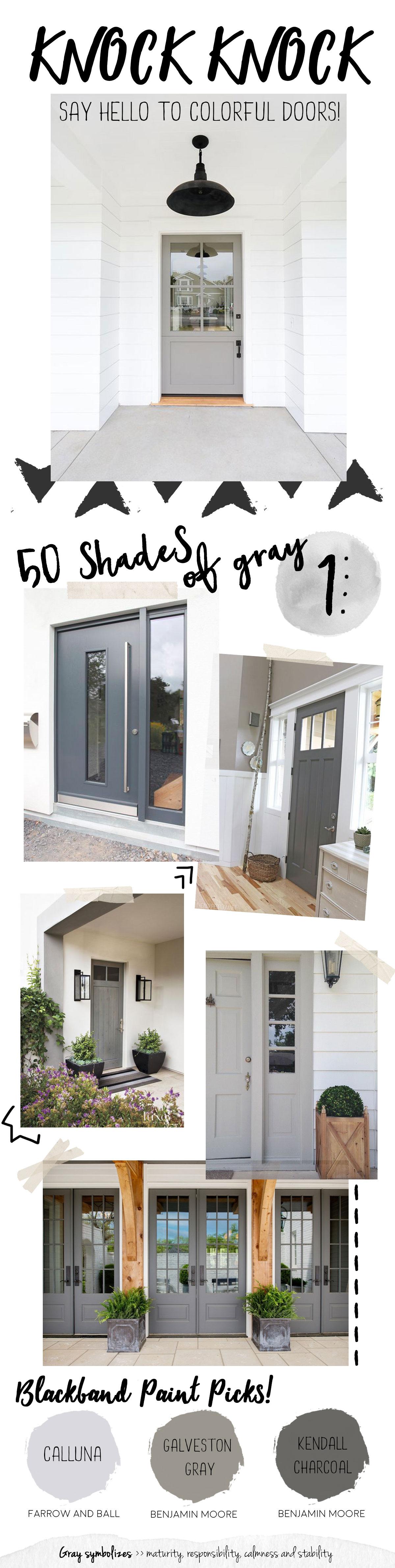 Gray front doors