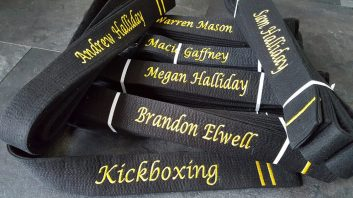 black belt personalised