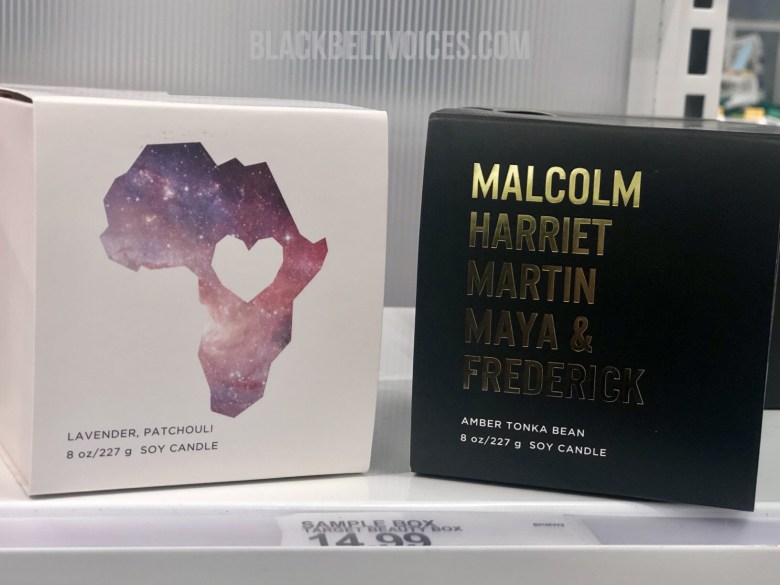 Black History Month soy candles at Target