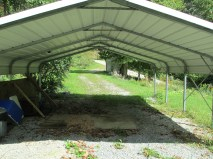 Carport and driveway