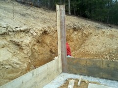 Starting to frame up the walls to pour concrete between for boards