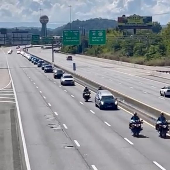 funeral procession in Knoxville