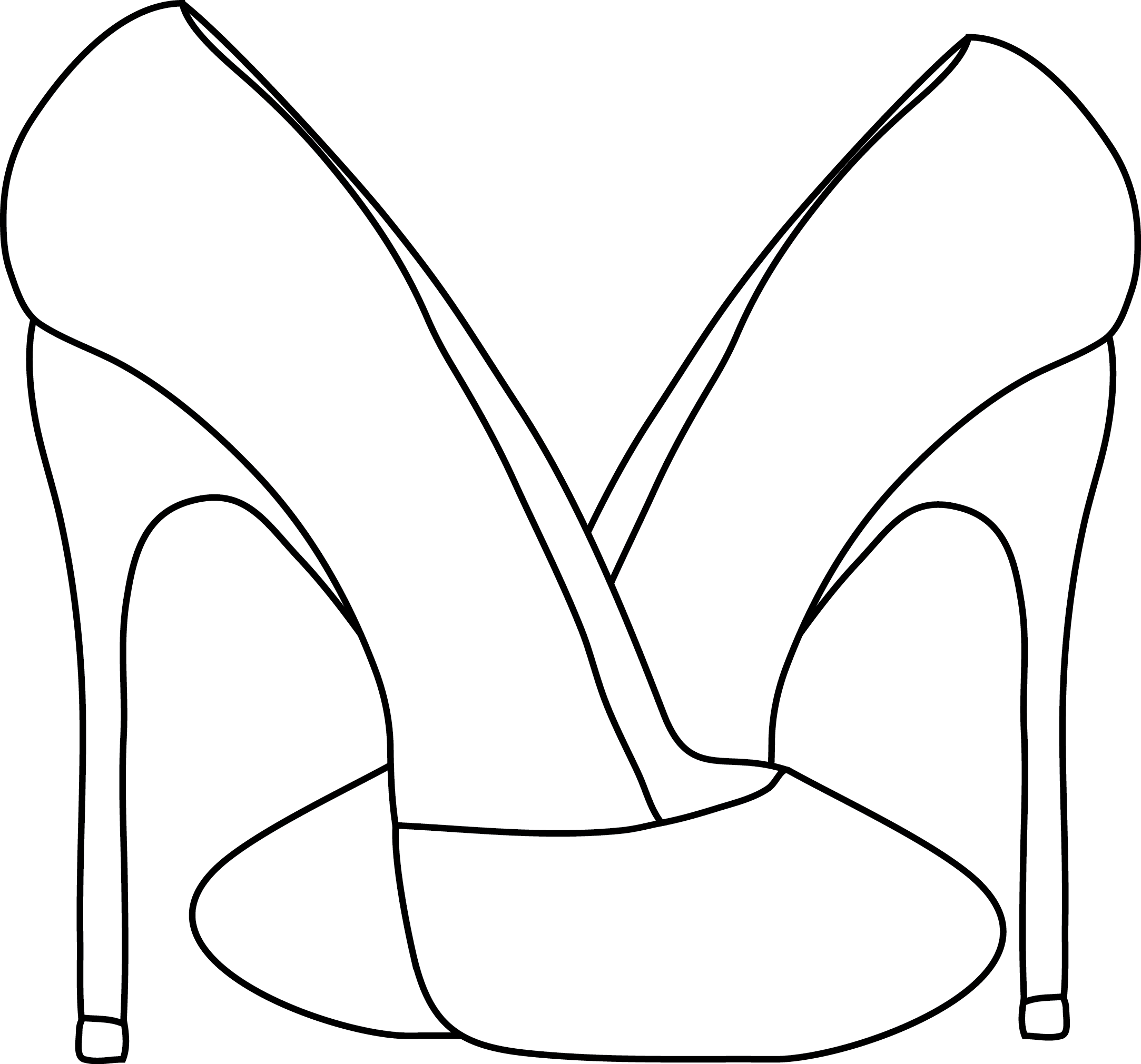 High Heel Shoes Coloring Pages Sketch Coloring Page