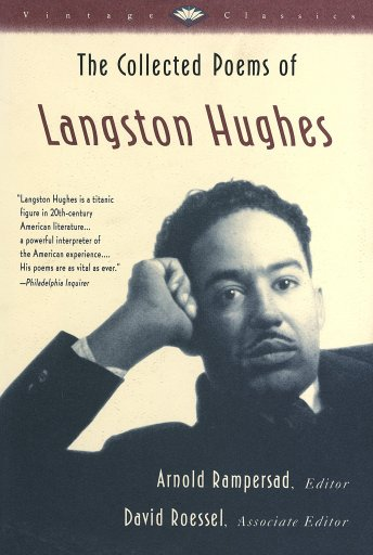 Langston Hughes on the cover of his poetry collection.