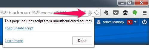 Google Chrome Unauthenticaded Sources Warning