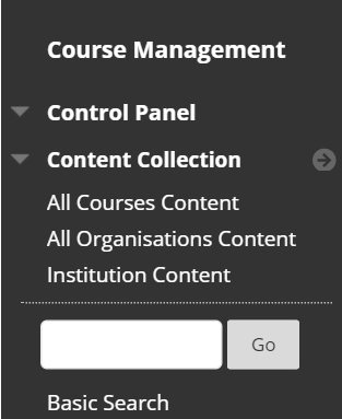 Course files link not available