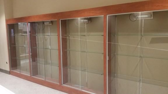 Free Standing Display Cases - Bear Creek Charter School