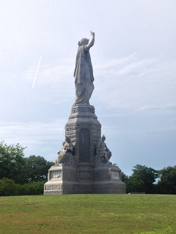 Plymouth monument on a hill