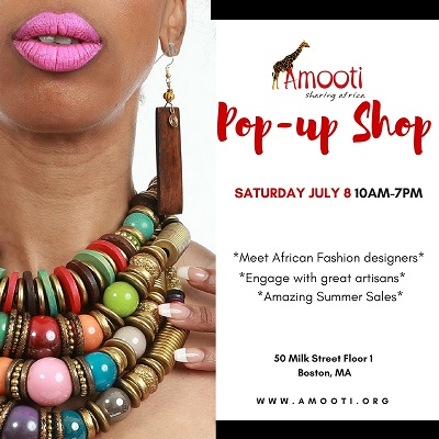 Amooti pop up store