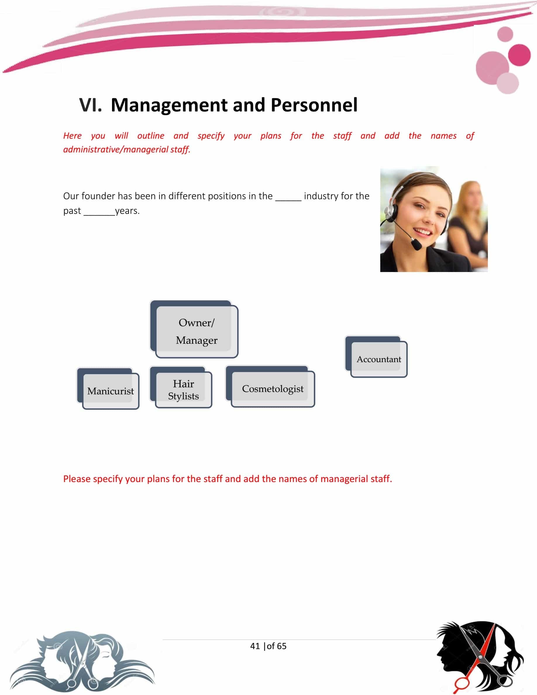 Hair Salon Business Plan Template Sample Pages
