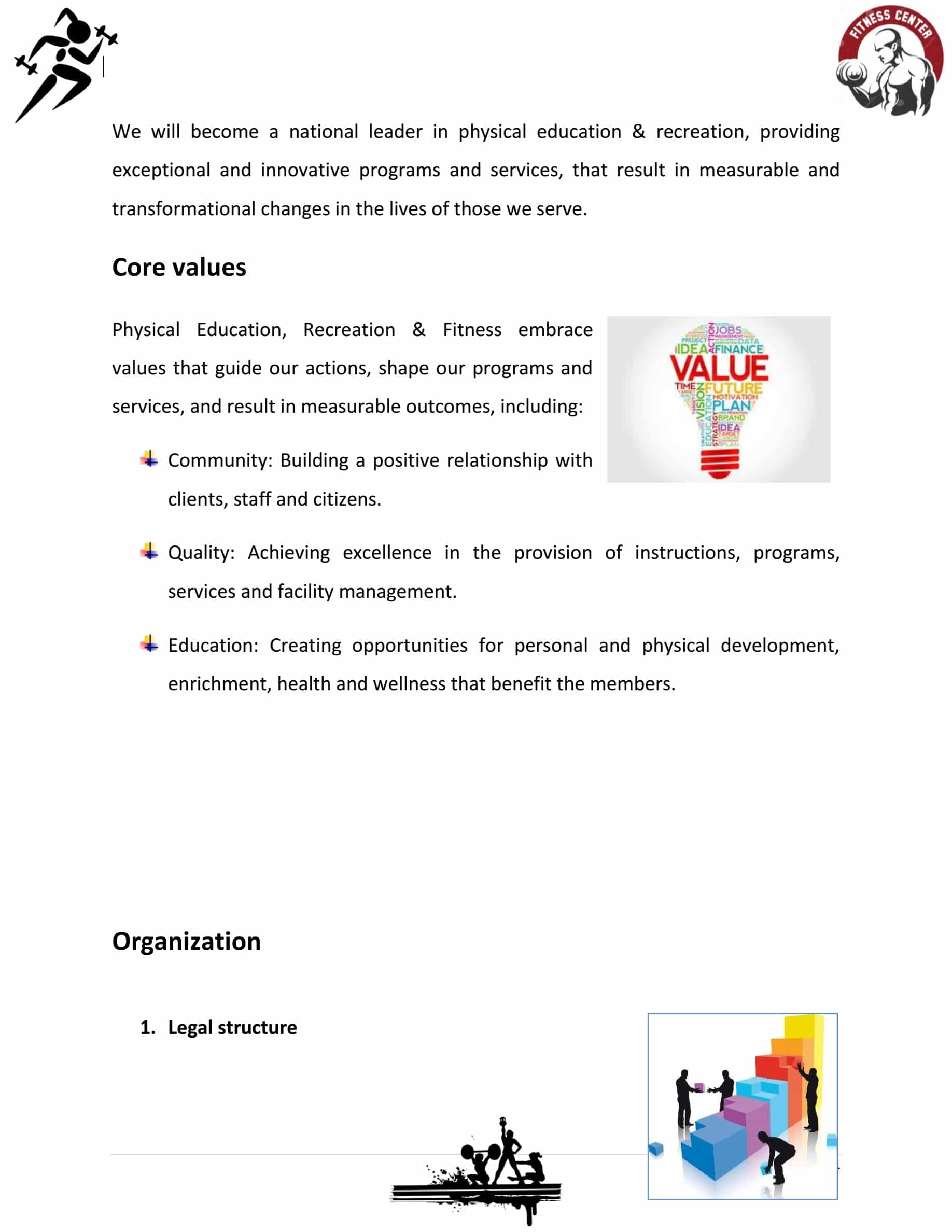 Fitness Gym Business Plan Template Sample Pages