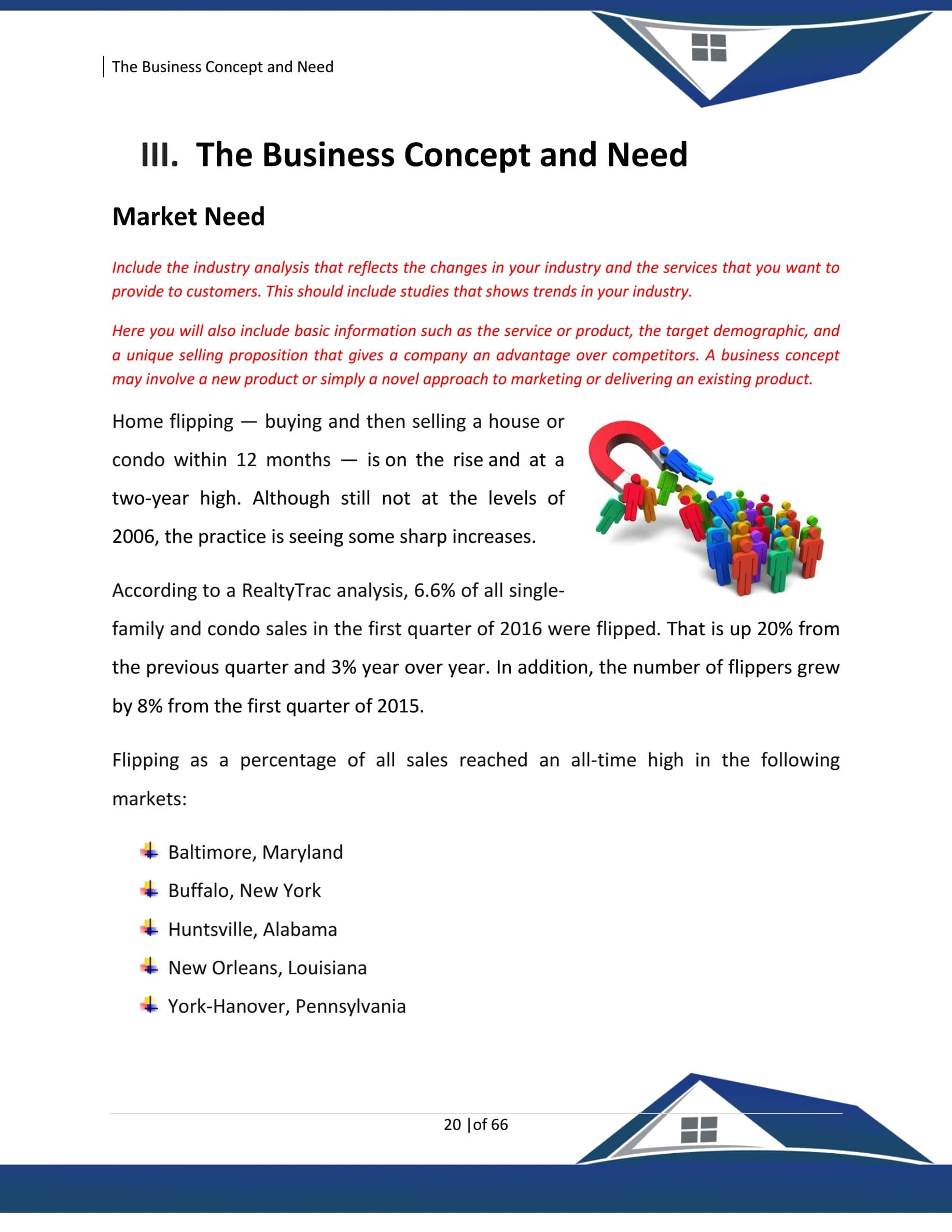Real Estate House Flipping Business Plan Template Sample