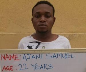 Final year student, Ajani Samuel