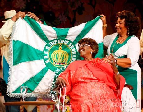 Dona Ivone Lara being honored by Império Serrano Samba School