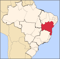 State of Bahia in Brazil's northeast