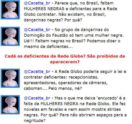 Faltam MULHERES NEGRAS na Rede Globo. Uma dançando no Domingão do Faustão, nenhuma no BBB....(2)
