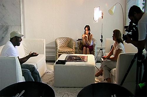 Netinho de Paula at the headquarters of the TV da Gente TV channel