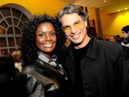 Actress Adriana Alves and husband Olivier Anquier