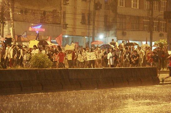 Protesters in Belém, Pará, in northern Brazil
