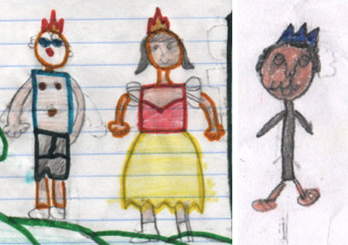 One black girl drew herself with her white prince; only one girl imagined the prince to be black