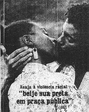 "Caption: ""React to racial violence: Kiss your black woman in a public square"""