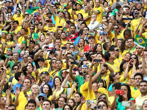 Fans at a recent Confederations Cup game in Brazil
